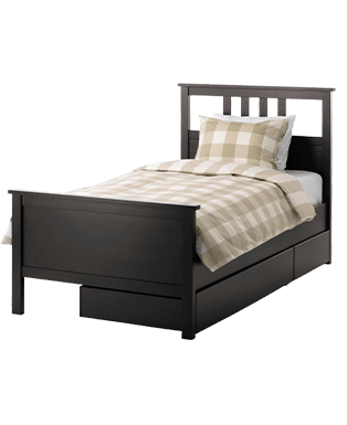 Polish Brown Bed