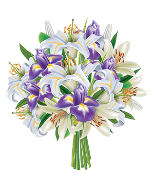 White & Purple Bouquet